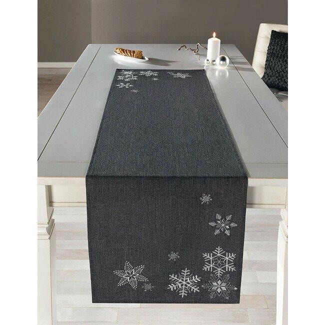"""Tischläufer """"Silberkristall"""", ca. 40 x 140 cm"""