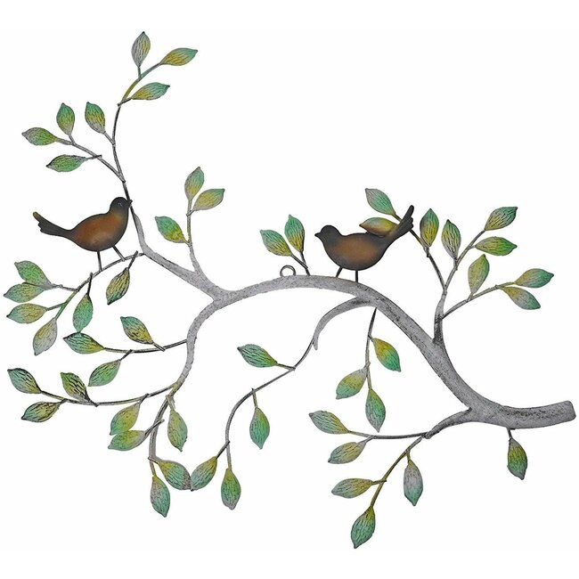 "Wanddeko ""Ast mit Vögeln"", ca. 61 x 47 cm"