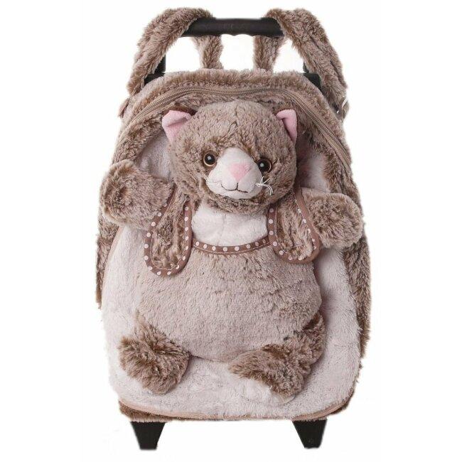 Kindertrolley Katze - 3in1 Trolley, Rucksack und Plüschtier