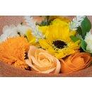 Seifenblumen Boquet Blumenstrauß Sommer Orange