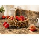 Deko Äpfel aus Kunststoff, 12er Set, rot Ø 5 cm