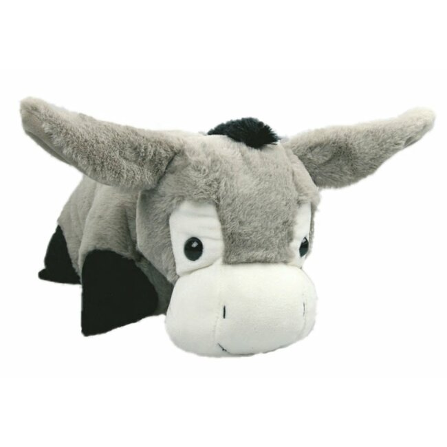 2in1 Schmusekissen und Kuscheltier Esel, grau