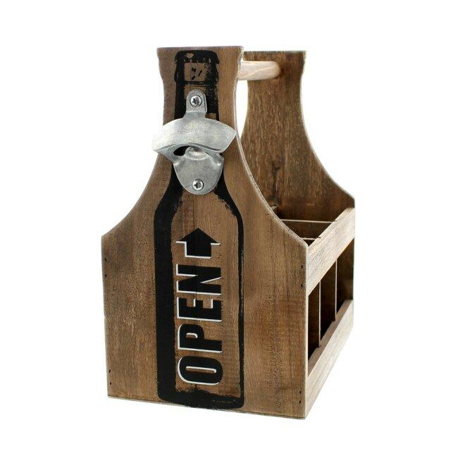 Flaschenträger Opener  Für 6 gängige Flaschen mit 0,33 l