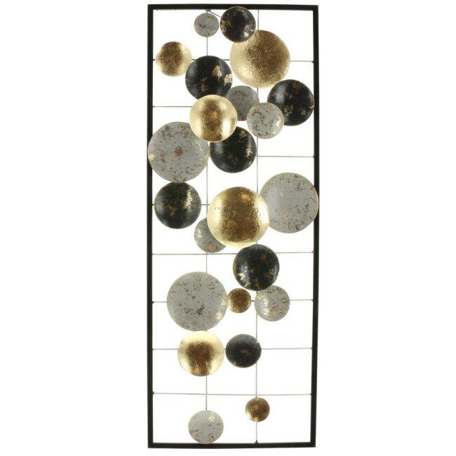 "Metall-WandBild ""Circles"" 28 x 74 cm"