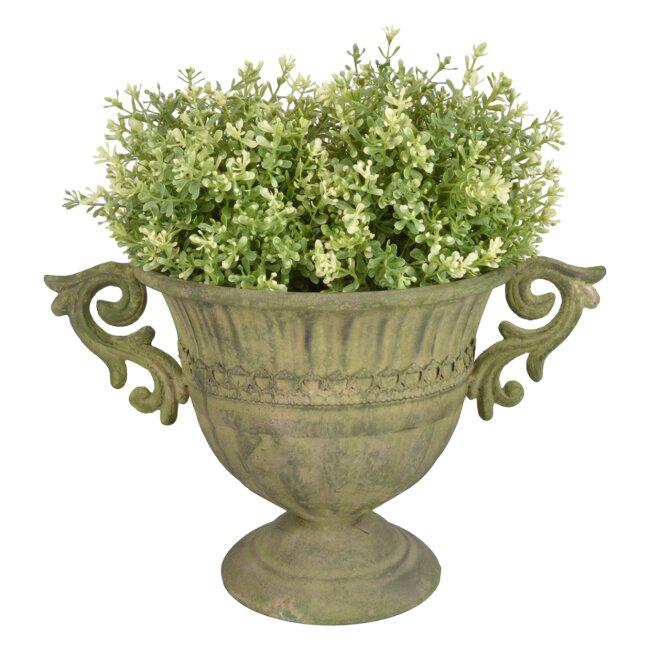 Aged Metal grün Vase rund S - Pflanzkübel, ca. 37 x 22 cm