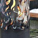 Feuertonne Flammen aus Carbonstahl