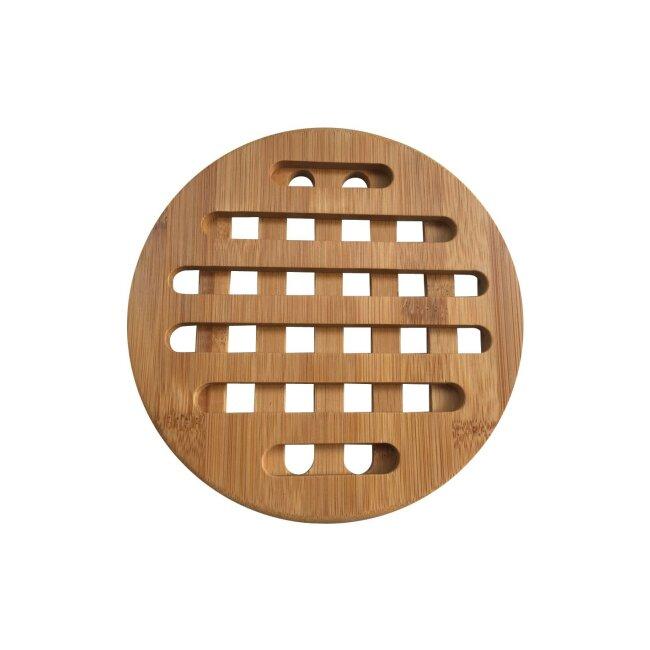 Topfuntersetzer aus Bambus, rund, 2er Set