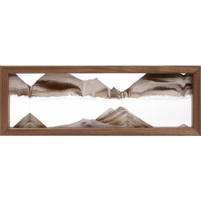 Sandbild - TX Walnut, ca. 41,5 x 14,5 x 4 cm