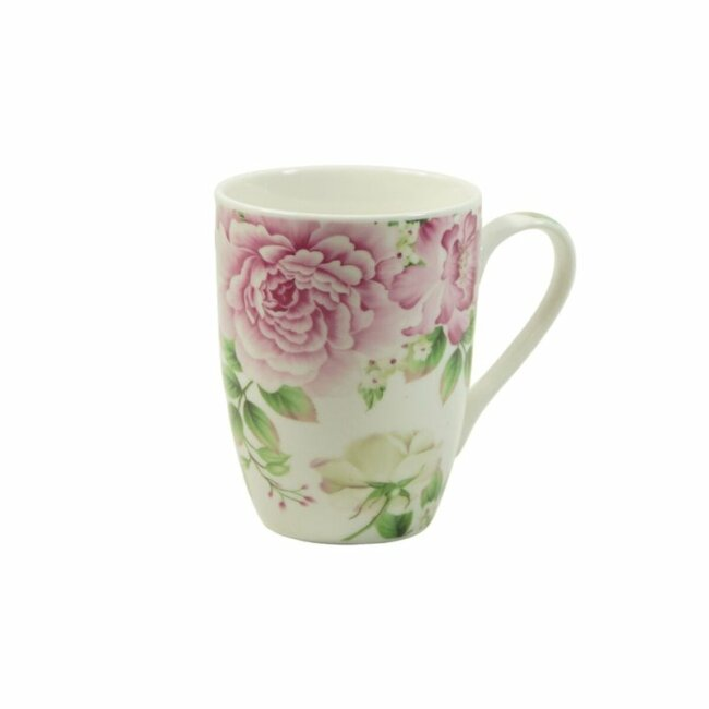 Hübsche Tasse mit Blumenmuster