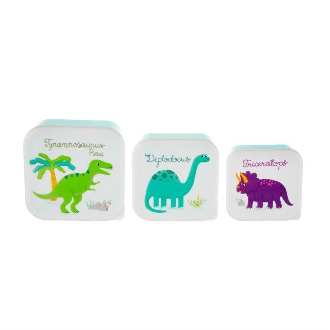 Lunchbox Brotdose Dinosaurier im 3er Set