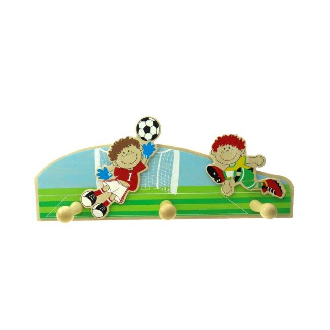 Garderobe Fußball mit 3 Haken