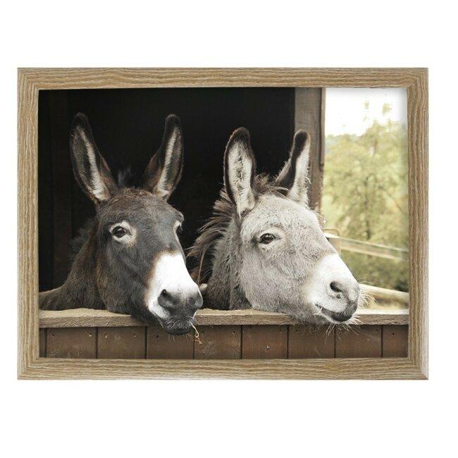 Knietablett zwei Esel, ca. 43 x 33 cm