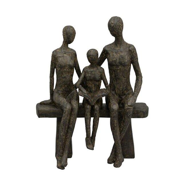 Skulptur Familie Hilda, Polyresin