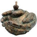 Vogeltränke, Hand aus Polyresin