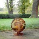 Feuerball   laser cut   Rost   Globus