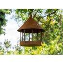 Vogelhaus zum Hängen in Rostoptik