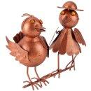 Dachrinnen Figur Vogelpaar kupferfarben 40 cm