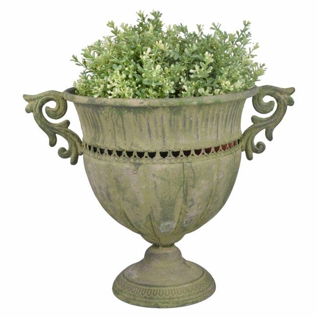 Aged Metal Grün Vase rund L I Höhe ca. 30,5 cm