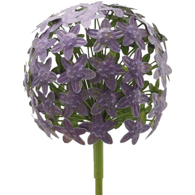 AlliumStick ArtFerro purple aus Metall, ca. 20 x 20 x 116,2 cm
