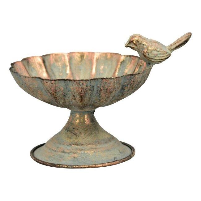 Vogeltränke aus Metall, ca. 17 x 13 x 11 cm