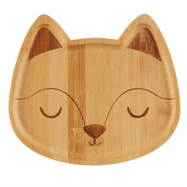 Woodland Fox Bambusplatte, ca. 20 x 18 cm