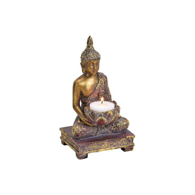Teelichthalter Buddha, ca. 10 x 18 x 9 cm