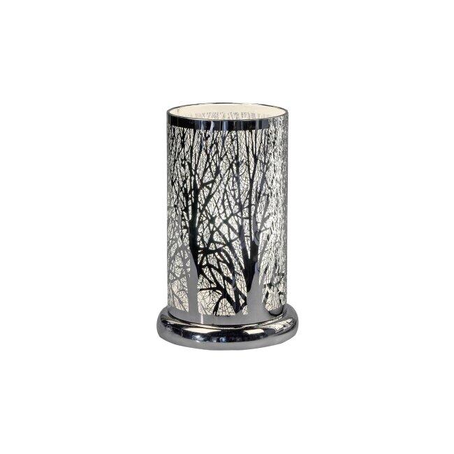 Lampe rund mit Touch, Baum, ca. 24 cm