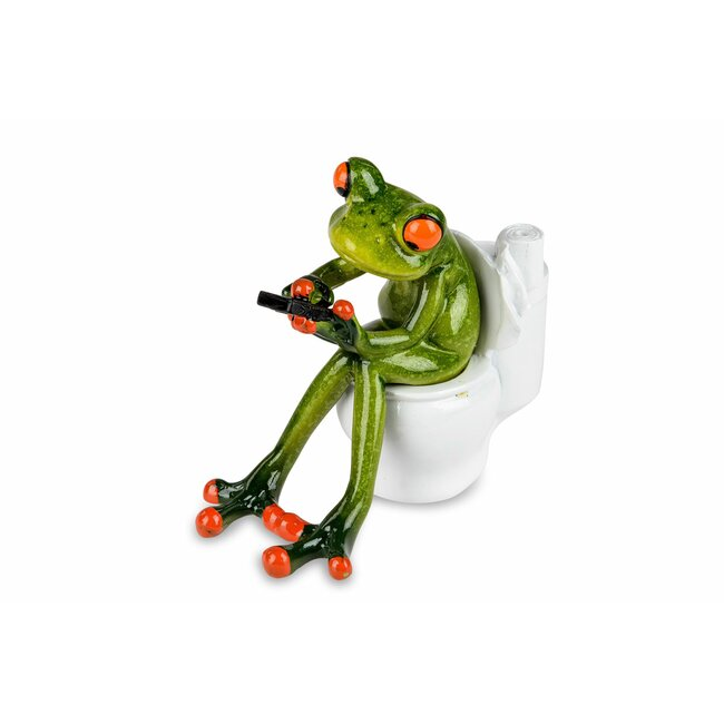 Frosch auf Toilette, ca. 13 cm