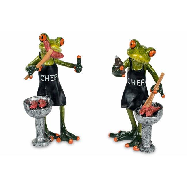"""Niedliche Figur """"Frosch mit Grill"""""""