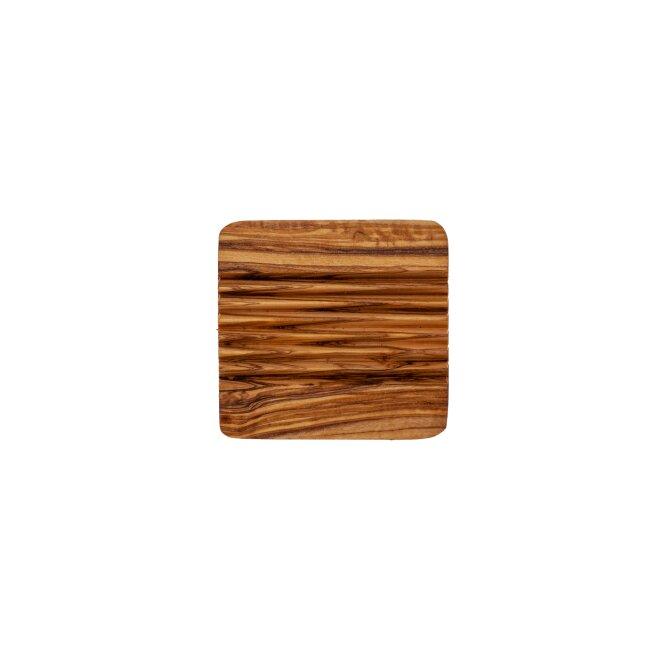 Seifenablage Eckig, aus Olivenholz ca. 9 x 9 cm