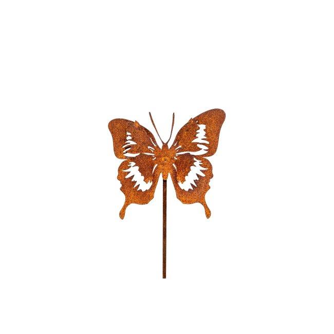 Schmetterlingsstecker, ca. 12 x 12 cm, Stab ca. 40 cm