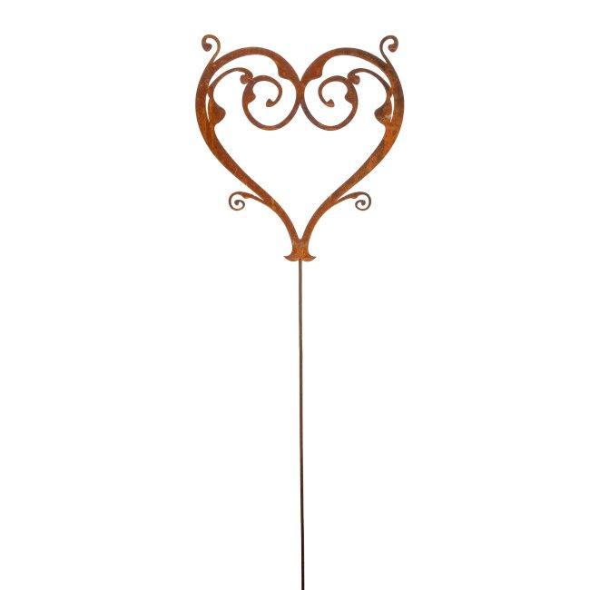 Herz filigran, Gartenstecker, ca. 130 cm