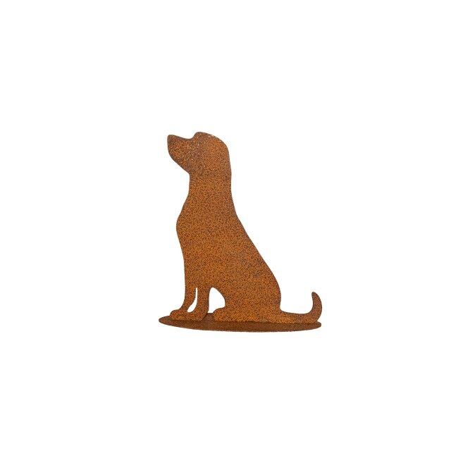 """Hund """"Bobby"""" auf Platte, ca. 27 x 30 cm"""