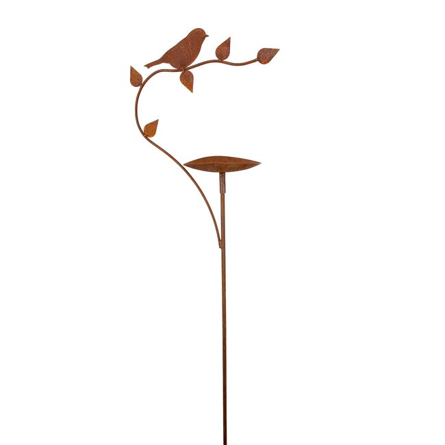 "Rankstab ""Vogeltränke"", ca. 40 x 25 cm, Stab ca. 120 cm"