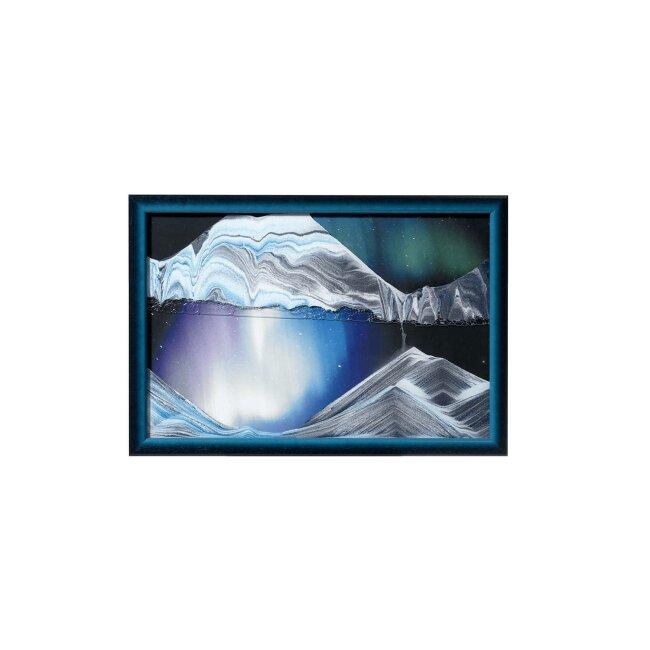 Sandbild - Aurora Borealis, small, ca. 33 x 22 x 1,8 cm