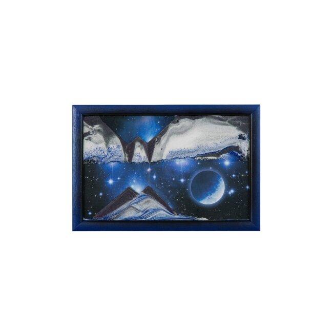 Sandbild - Blue Planet, small, ca. 33 x 22 x 1,8 cm