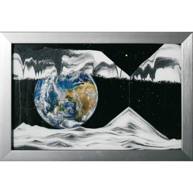 Sandbild - Movie Earth, medium, ca. 42 x 29 x 2,4 cm