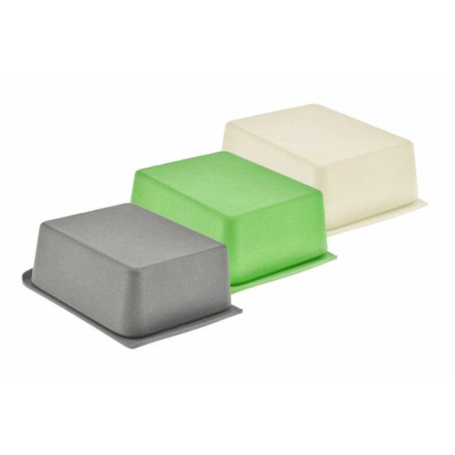 Butterdose in verschiedenen Farbvarianten