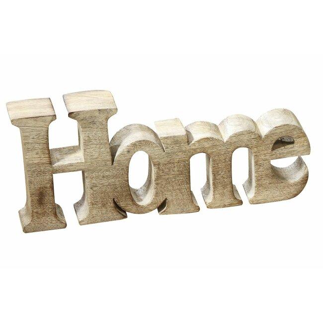 """Schriftzug """"Home"""" aus Holz, ca. 25 cm"""
