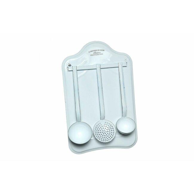 Kellen-Set aus Emaille, 4-teilig