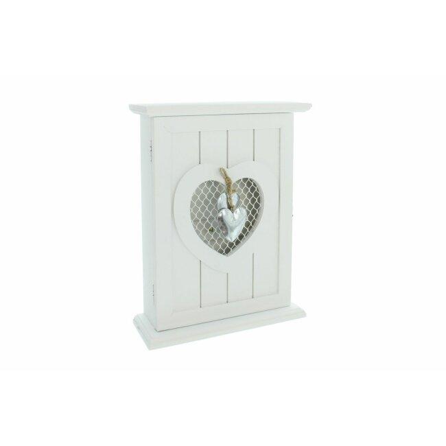 """Schlüsselkasten """"Silver Heart"""", ca. 22 x 8 x 29 cm"""