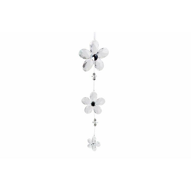Hänger Blumen, Acryl klar, ca. 35 cm