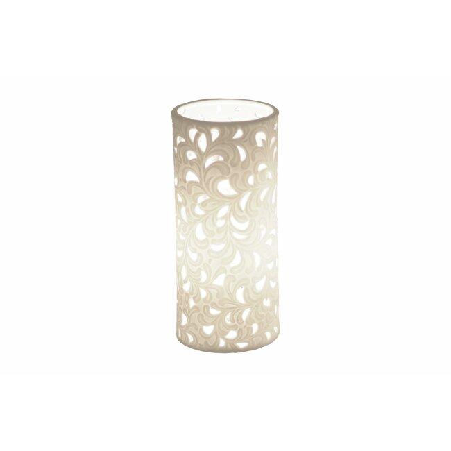 "Porzellan-Lampe ""Harmonie Romantik"", ca. 10 x 23 cm"