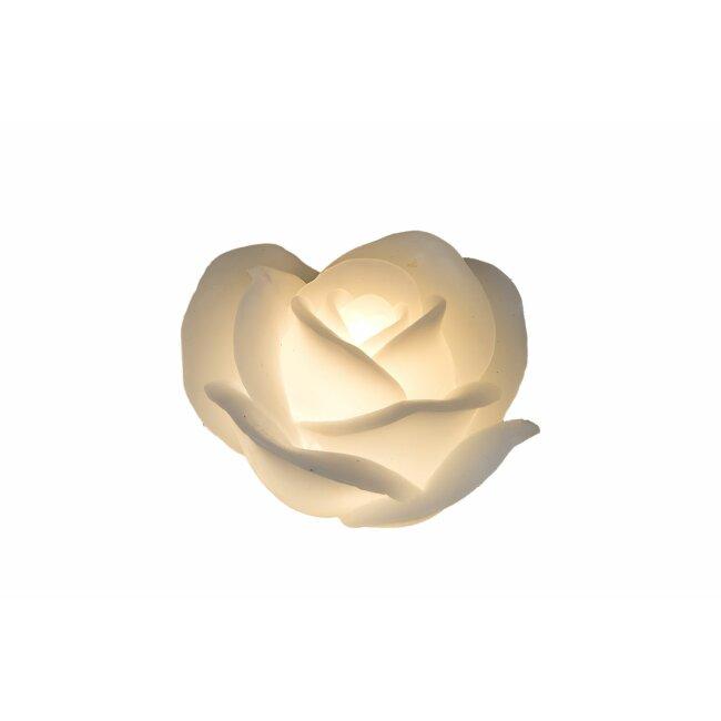 LED-Kerze, Rose weiß, ca. 11 cm