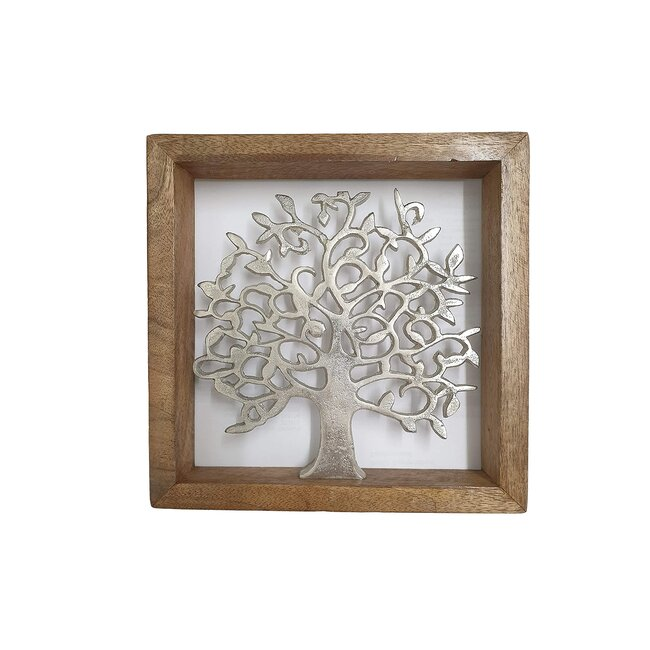 "Holzrahmen ""Lebensbaum"", ca. 20 x 20 cm"