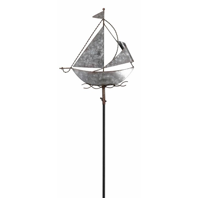 Gartenstecker Segelboot
