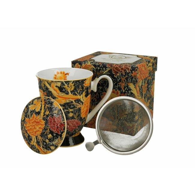 "Becher mit Aufguß ""Cray Floral William Morris"", ca. 325 ml"