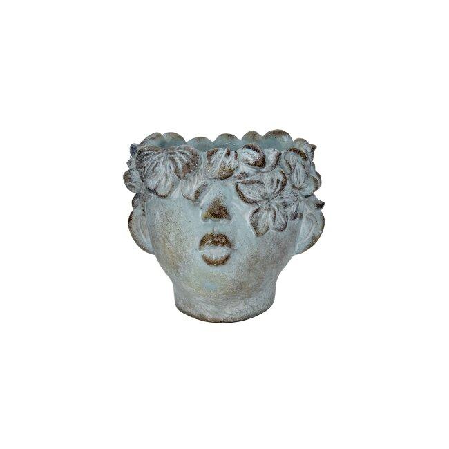 Pflanzkopf Zement, ca. 26 x 23 x 21 cm