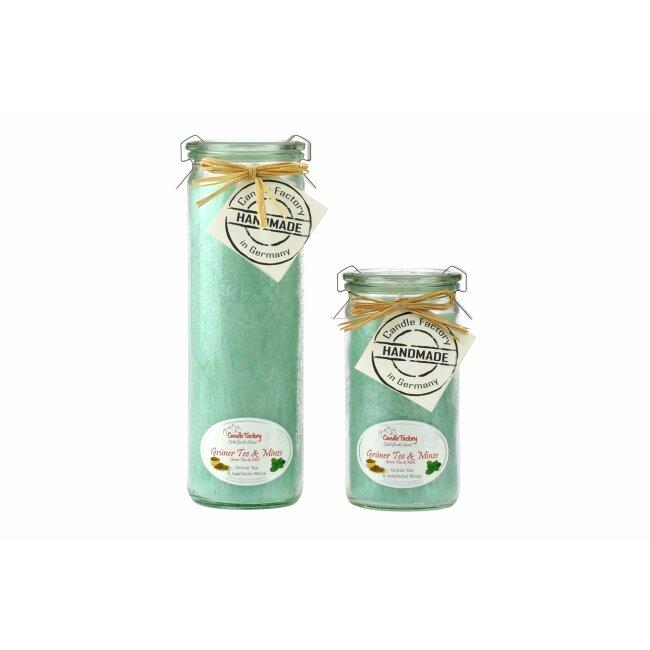 """Candle Factory Duftkerze """"Grüner Tee & Minze"""" Jumbo, pastellgrün"""