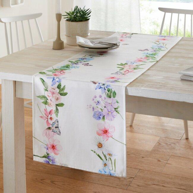 """Tischläufer """"Blütengirlande"""", ca. 40 x 140 cm"""